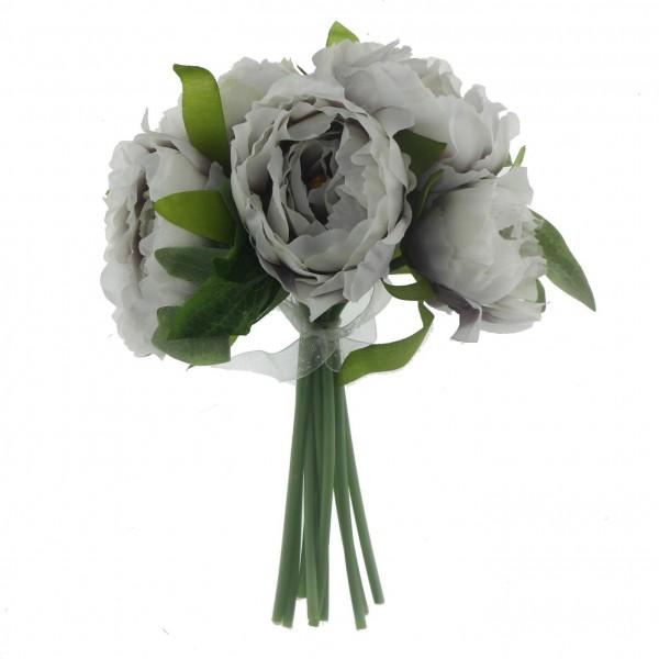1 Demet Şakayık Yapay Kumaş Çiçek 5li Çiçek