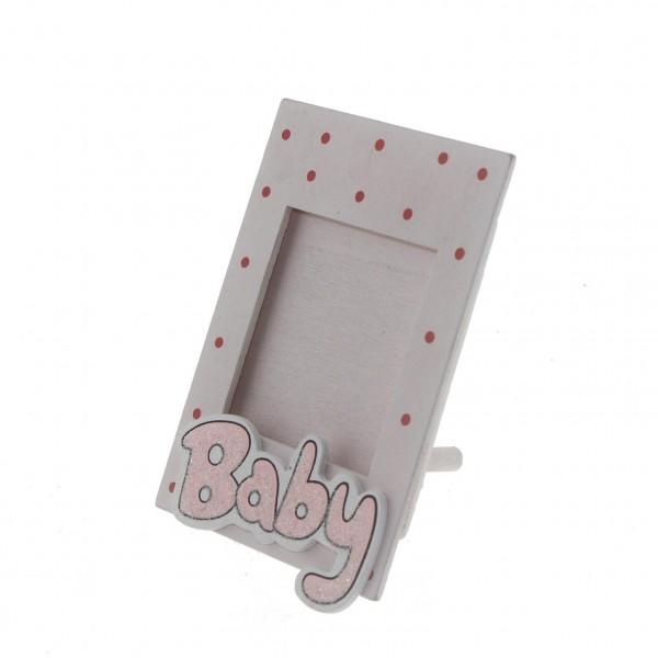 10 Adet 6x8cm Ahşap Fotoğraf Çerçevesi Baby Yazılı Bebek