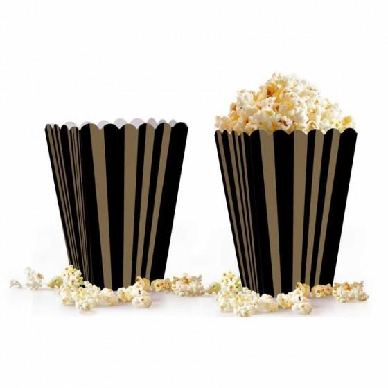 10 Adet Çizgili Mısır Kutusu Popcorn