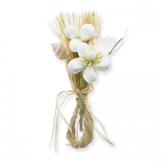 10 Adet Doğal Rafya Kumaş Çiçek