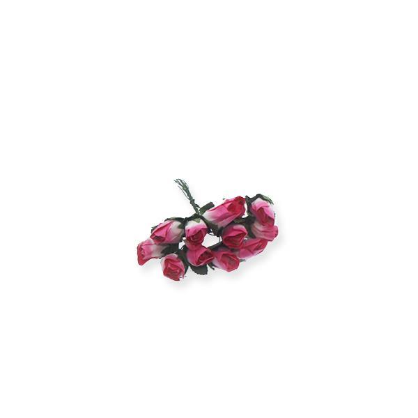 10 Demet (120 Adet) İki Renkli Kağıt Gül Çiçek