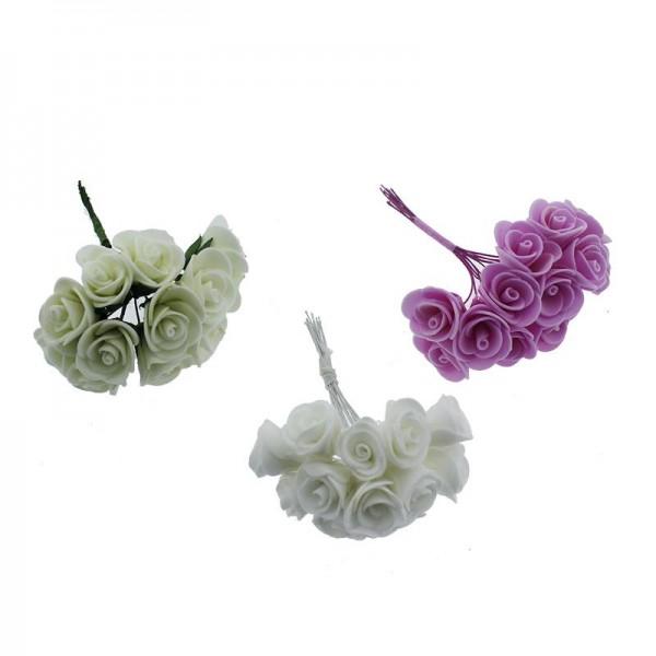 10 Demet (120 Adet) Küçük Lateks Gül Çiçek