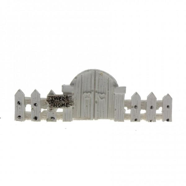 10x3,5cm Kapılı Çit Biblo Terrarium Minyatür