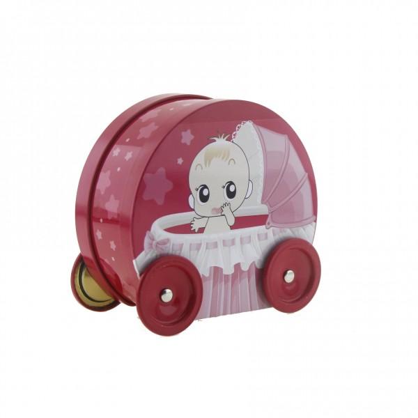 11x12cm Puset Bebek Arabası Metal Kutu