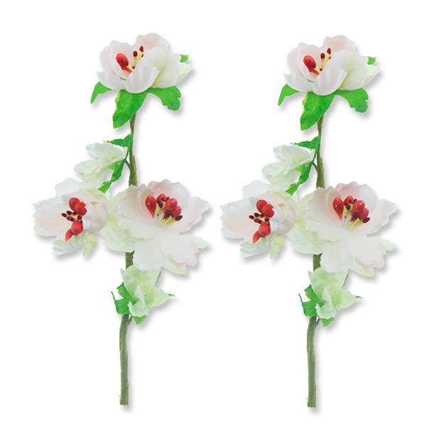 12 Aadet Tek Dal Bahar Dalı 3 Çiçekli Pembe