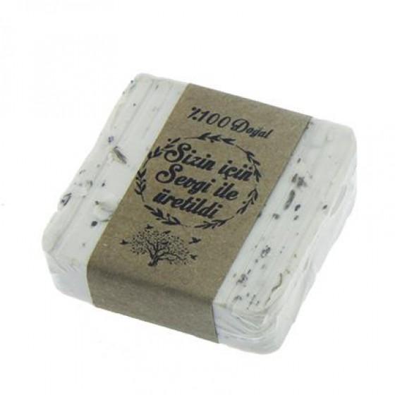 12 Adet 5,5x5,5cm Doğal Zeytinyağlı Sabun Lavanta Taneli
