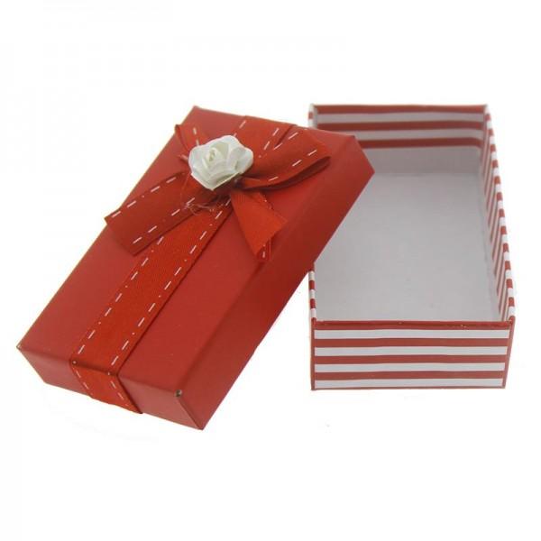 12 Adet 5x8cm Kağıt Güllü Karton Kutu