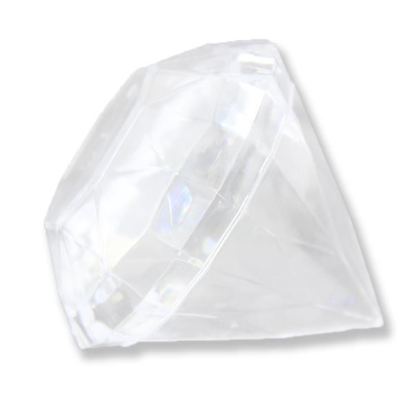 12 Adet 7x6,Cm Elmas Plastik Kutu Piramit