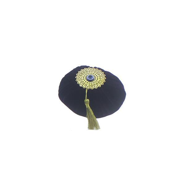 12 Adet 8cm Çapında Metal ve Püskül Süslemeli Kadife Top