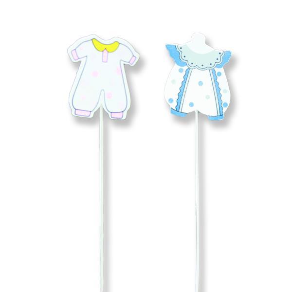 12 Adet Ahşap Bebek Kıyafet Çubuk