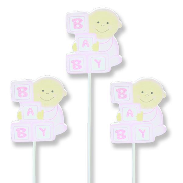 12 Adet Baby Yazılı Ahşap Çubuk