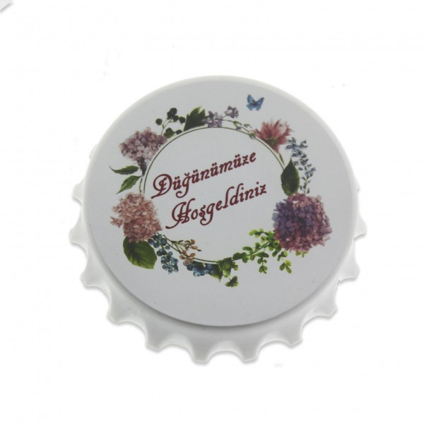 12 Adet Düğün Nişan Mıknatıslı Açacak Ortancalı