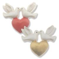 12 Adet Kalpli Güvercin Kuş Biblo