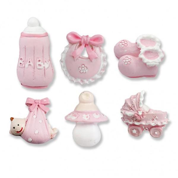 12 Adet Karışık Minik Bebek Biblo