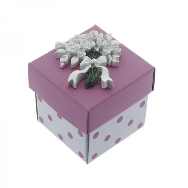 12 Adet Karton Kutu Çiçek Biblolu