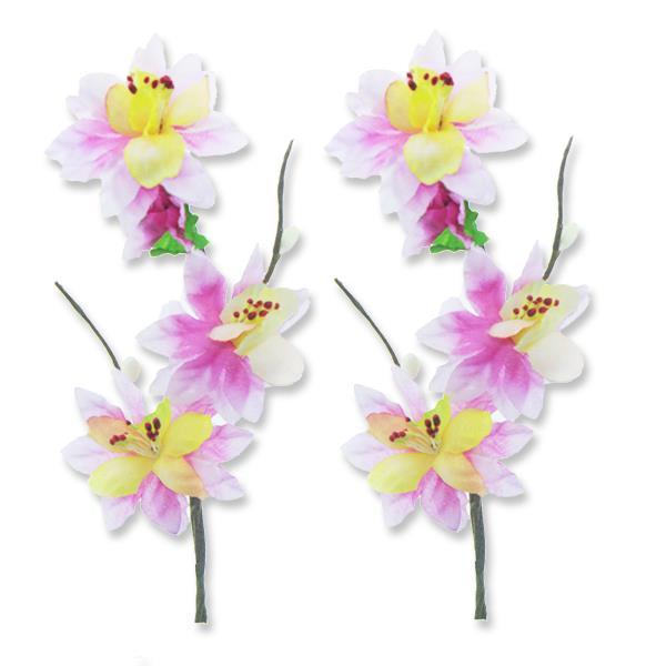 12 Adet Tek Dal Bahar Dalı Çiçek Pembe