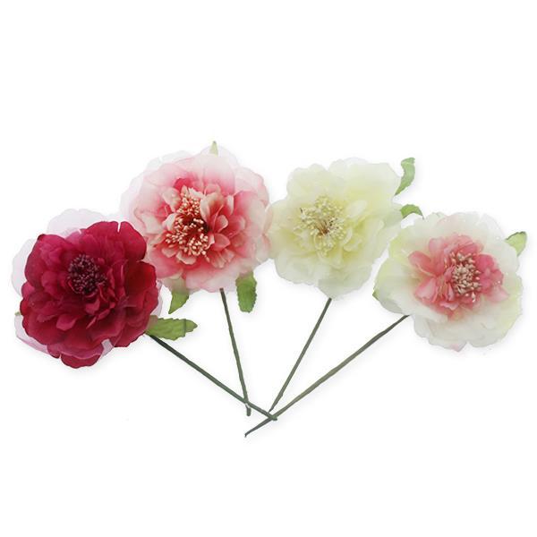 12 adet Tekli Kumaş Çiçek Gül