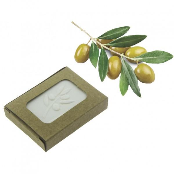 12 Adet 3,5x5,5cm Zeytinyağlı Doğal Sabun Kraft Kutulu