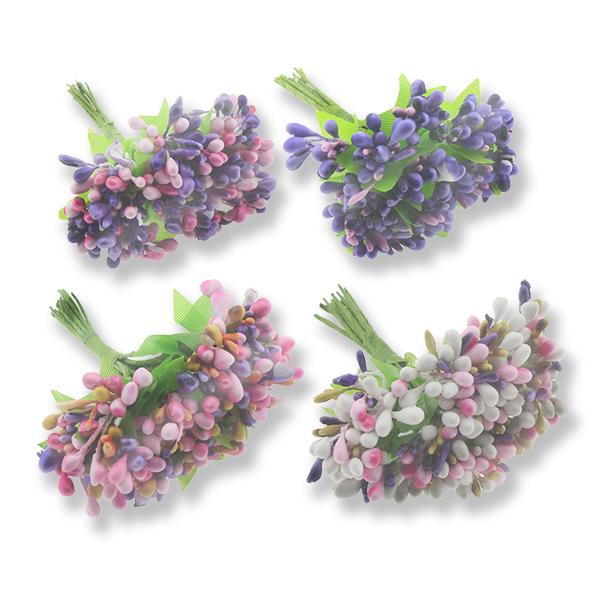 12 Demet (144 Adet) Çok Renkli Pıtırcık Çiçek