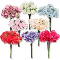 12 Demet (144 Adet) Küçük Kağıt Gül Çiçek