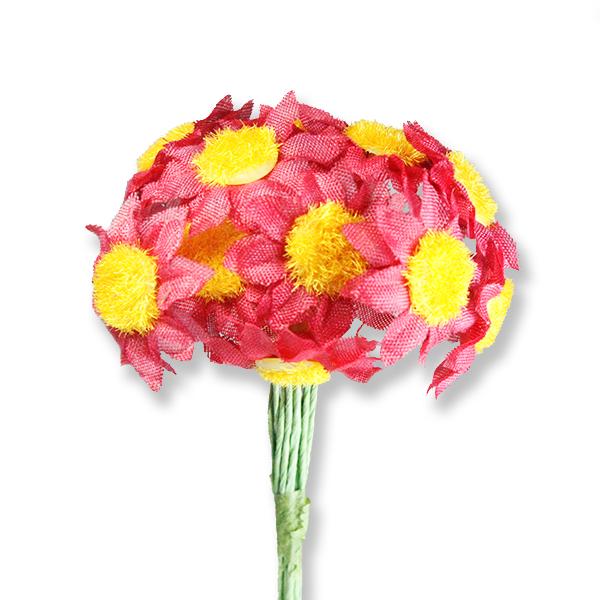 12 Demet (144 Adet) Kumaş Papatya Çiçek