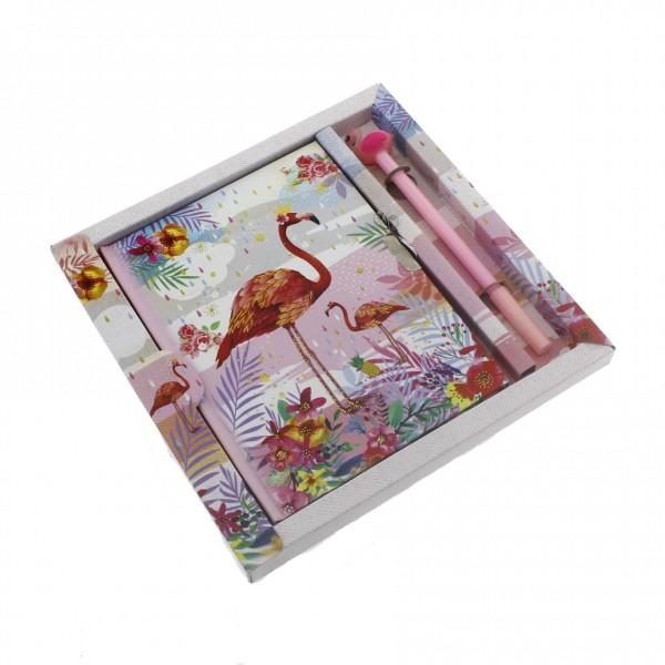 13x18cm Flamingo Anı Defteri ve Kalem Seti