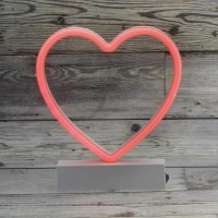 18cm Neon Led Kalp Aydınlatma