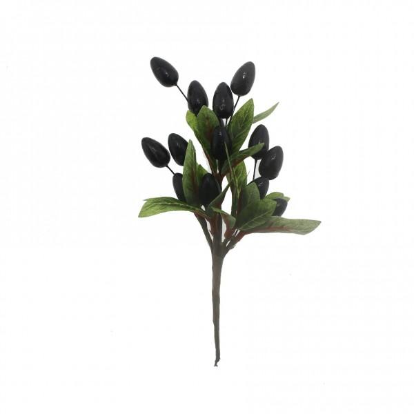 18x10cm Yapay Zeytin Dalı Çiçeği
