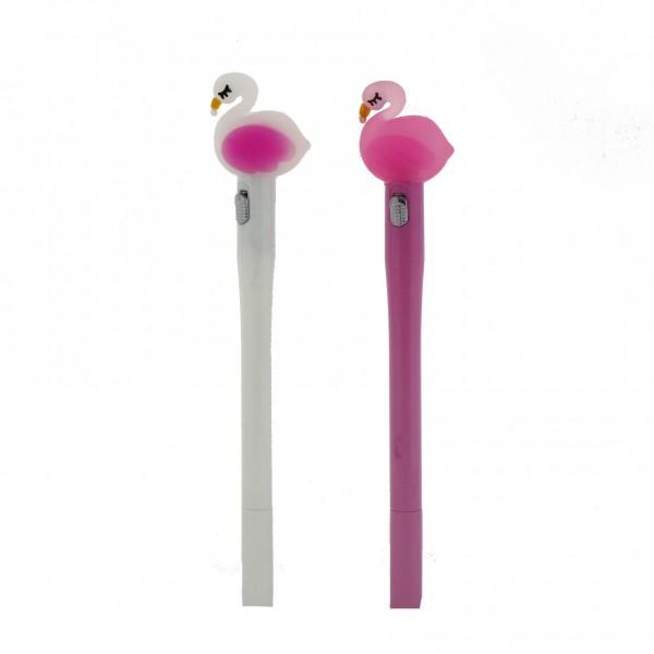 2 Adet Led Işıklı Flamingo Tükenmez Kalem