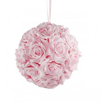 20cm Çapında Organizasyon Askılı Çiçek Topu Gül