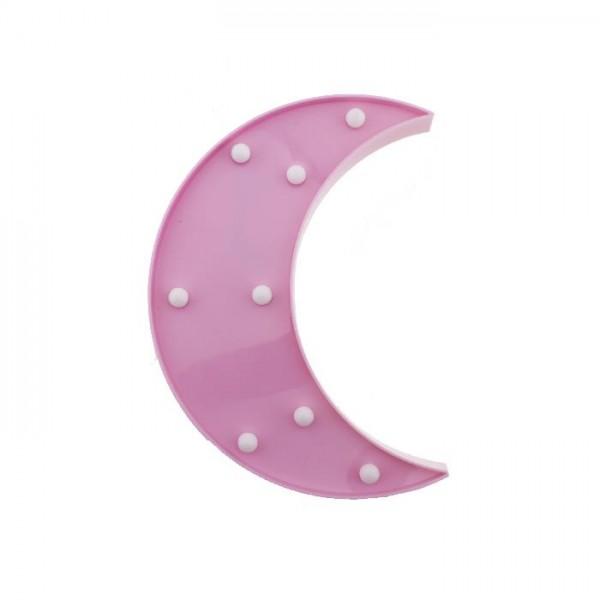 24cm Led Işıklı Plastik Ay Dede Gece Lambası