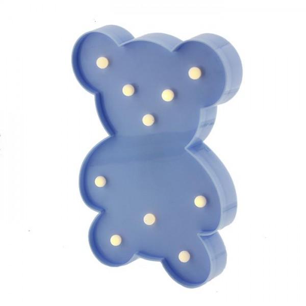 25cm Led Işıklı Plastik Ayıcık Gece Lambası