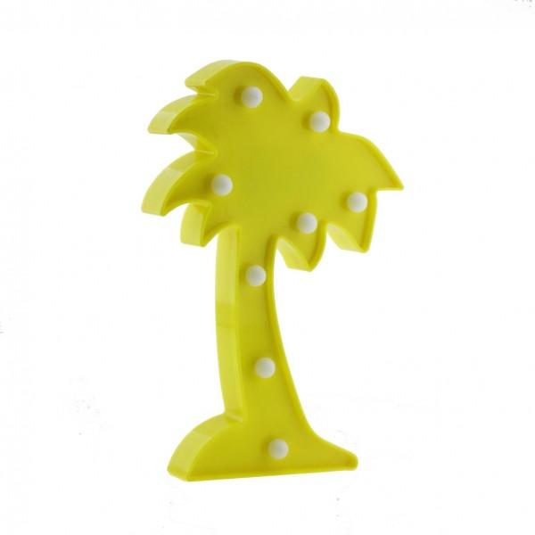25cm Led Işıklı Plastik Palmiye Ağaç Gece Lambası