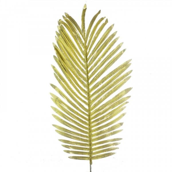 5 Adet 25x50cm Palmiye Yaprak Yapay Parlak Altın Gümüş