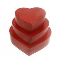 3 Adet Kalp Kutu Karton Hediyelik Set