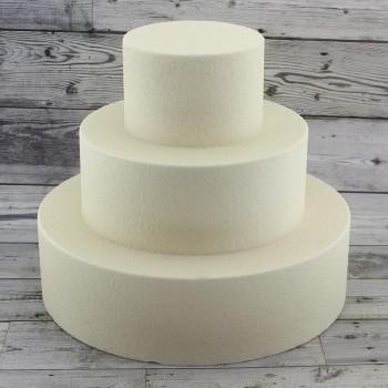 3 Katlı Strafor Maket Pasta Kaplı Ekru/krem Renk
