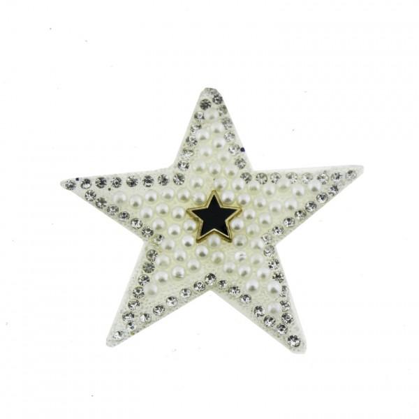 4 Adet 5,5cm Taşlı Yıldız Kumaş Aksesuar