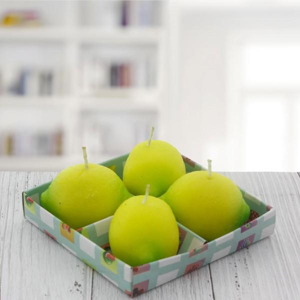 4 Adet 6x4cm Limon Mum