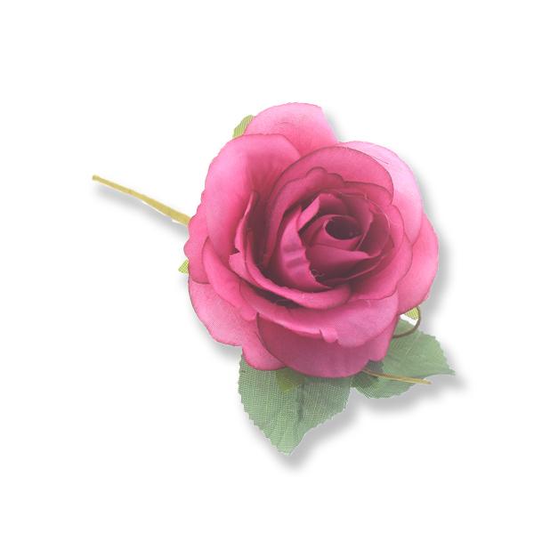 4 Adet 5,5cm Kumaş Çiçek Gül