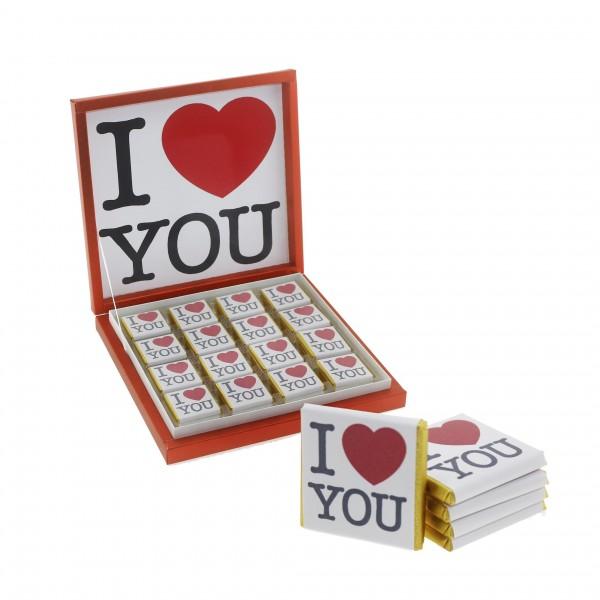 48 Adet  I Love You Seni Seviyorum Madlen Çikolata