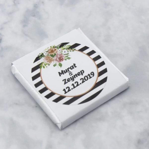 48 Adet İsim Etiketli Söz Nişan Madlen Çikolatası Mod.3