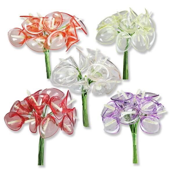 6 Demet (72 Adet) Akrilik Cam Çiçek