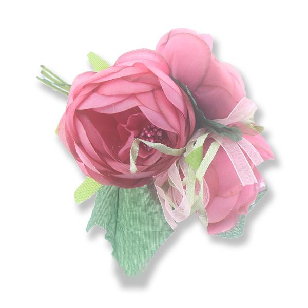 6 Demet Üç Çiçekli Tohumlu Çiçek Yaka Gülü