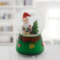 8x12cm Müzikli Işıklı Kar Küresi Noel Baba Yılbaşı