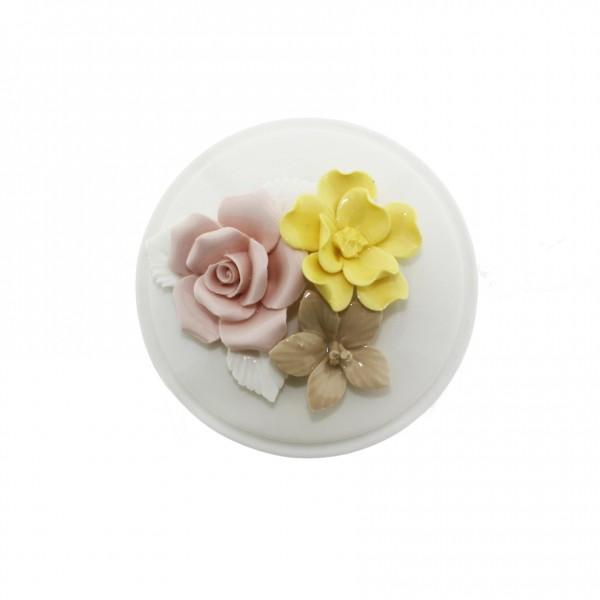 8x7cm Çiçekli Porselen Şekerlik