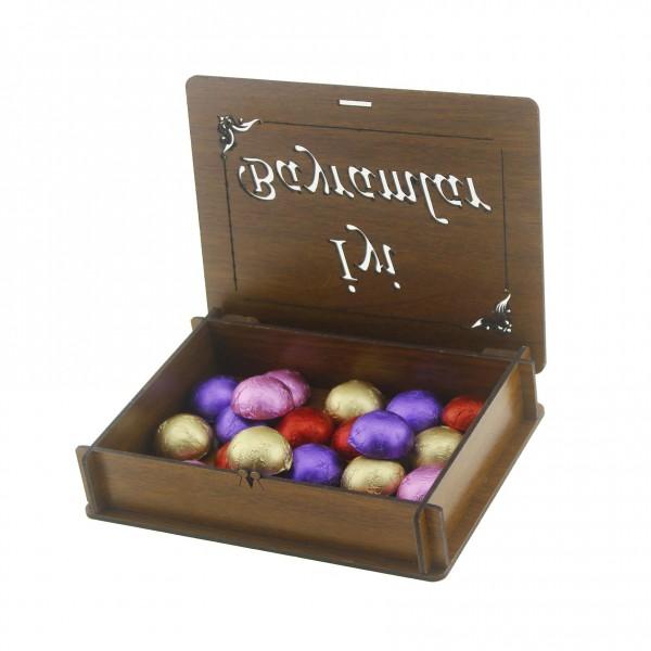 Ahşap Kutuda 20 Adet Bayramlık Çikolata