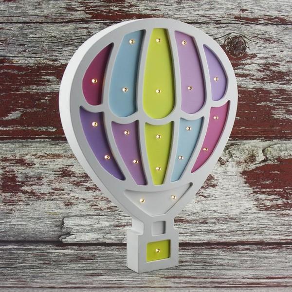 Ahşap LED Işıklı Pilli Balon