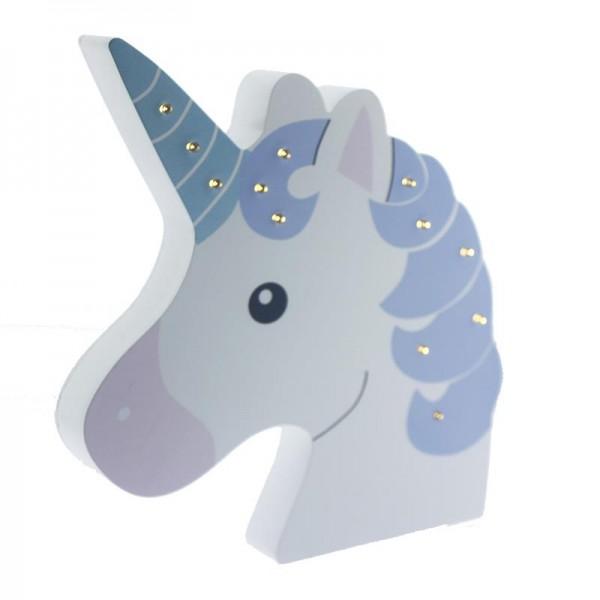 Ahşap LED Işıklı Pilli Unicorn Dekor