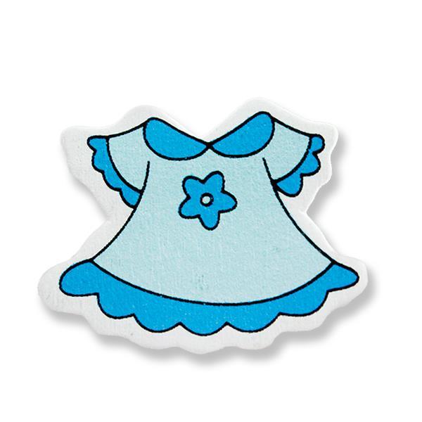 Ahşap Sticker Elbise 12 Adet