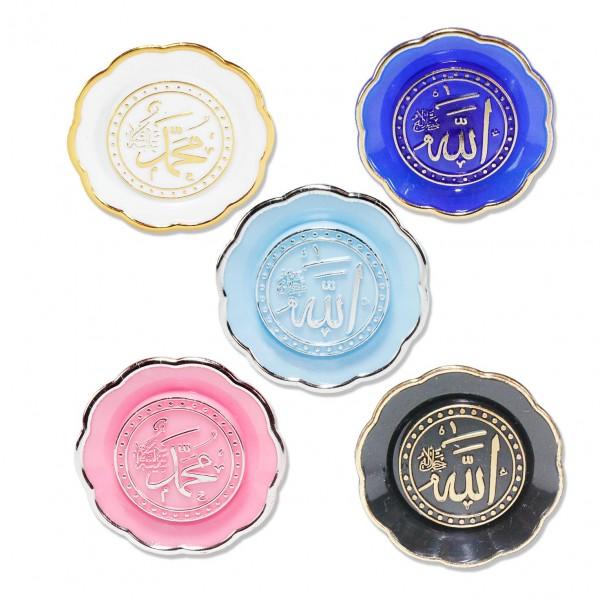 Allah(CC)-Muhammed(SAV) Yazılı Yuvarlak Süs 25 Adet
